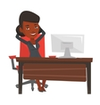 Business woman relaxing in office vector image vector image