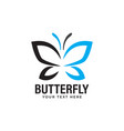 butterfly logo design template isolated vector image vector image