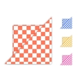 Checkered Napkin vector image