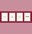 christmas cards set vintage typographic design vector image