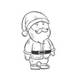 christmas symbol doodle vector image vector image