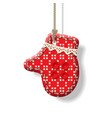 christmas textile decorations vector image vector image
