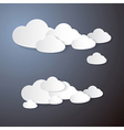 Clouds Cut From Paper on Grey Background vector image vector image