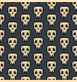 color pixel skull games seamless pattern vector image vector image