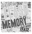 Compact Flash Memory and Data Recovery text vector image vector image