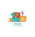 concept for finance vector image vector image