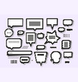 empty white 8 bit speech bubbles set vector image