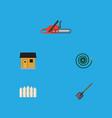 flat icon garden set of hosepipe shovel stabling vector image vector image