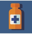 flat medical bottle pills vector image vector image