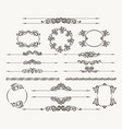 floral filigree design element set vector image vector image