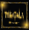 gala art deco background vector image