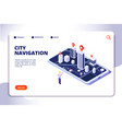 gps isometric concept navigation city 3d map vector image vector image