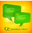 Green speech bubbles vector image vector image
