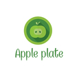 Half apple icon vector image