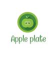 Half apple icon vector image