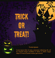 happy halloween scary template vector image vector image