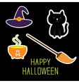 Happy Halloween witchs set Ghosts pumpkin candies vector image vector image
