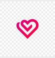 heart logo line flat web app icon vector image vector image