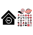 Home Login Flat Icon with Bonus vector image vector image