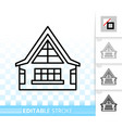 house simple black line home exterior icon vector image vector image