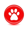 icon footprint of an animal vector image vector image