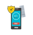 icon mobile safe payment vector image vector image