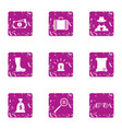 insignificant money icons set grunge style vector image vector image