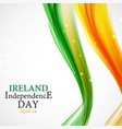 ireland independence day background vector image vector image