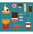Junk fast food flat style set vector image vector image