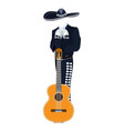 mariachi musician with guitar vector image vector image