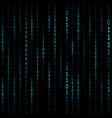 matrix hacker dark background vector image vector image