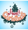 Merry Christmass label for your design vector image vector image