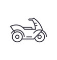 motorcyclemotorbike line icon sign vector image vector image