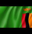 national flag republic of zambia vector image