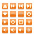 orange media sign rounded square icon web button