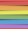 overlapping colorful paper sheets in colors of vector image vector image