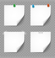paper white notes and stickers with shadows vector image