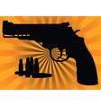 pistol and cartridges vector image