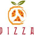 pizza in peace symbol form design template