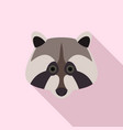raccoon icon flat style vector image vector image