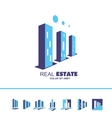 Real estate skyscraper building logo icon vector image vector image