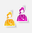 realistic design element saleswoman vector image vector image