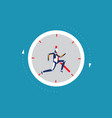 robot running away in clock concept business vector image vector image