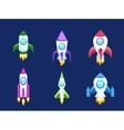 Rocket icons isolated vector image
