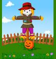 scarecrow cartoon vector image