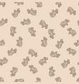 seamless pattern background hippo zen vector image vector image