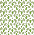 Seamless pattern with poppy heads and leaves vector image vector image