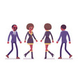 secret agent black man and woman spies walking vector image