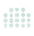set original organic logos linear vector image vector image