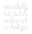 set with hand drawn abc letters from a to z vector image